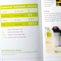 Weinratgeber–mehrseitige Broschüre in Kooperation mit himbeerblau Design